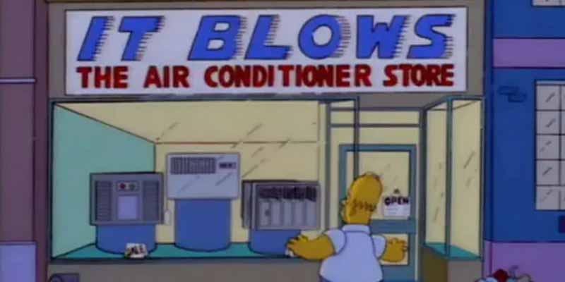 Нет кондиционера у Симпсонов