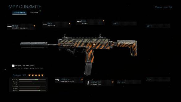 Лучшая сборка для MP7 в Warzone