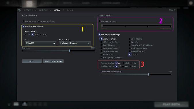 Dota 2 best video settings